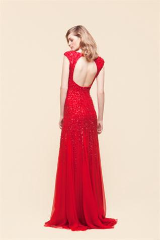 vestidos largos color rojo