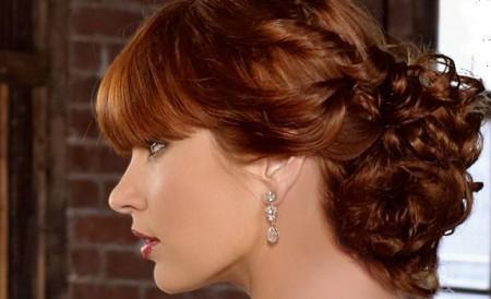 peinados altos para novias