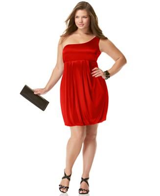trajes de fiesta rojos gorditas