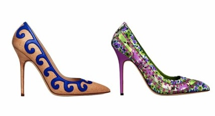 zapatos coloridos de moda