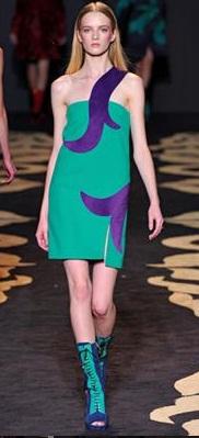 vestidos de colores llamativos