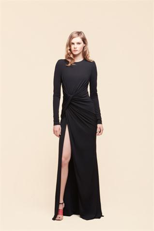 trajes negros de noche