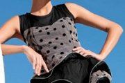 Vestidos cortos con estampados de lunares