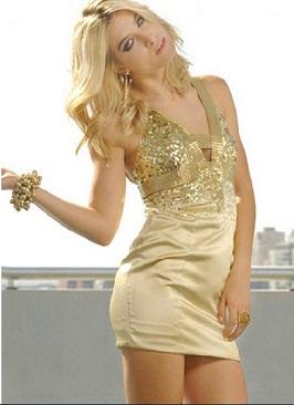 vestidos casuales brillantes