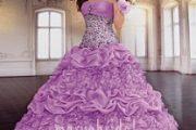 Vestidos color lila para quinceañeras