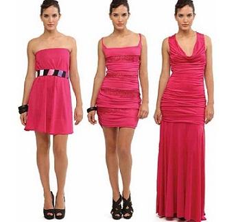 vestidos fucsias brillantes