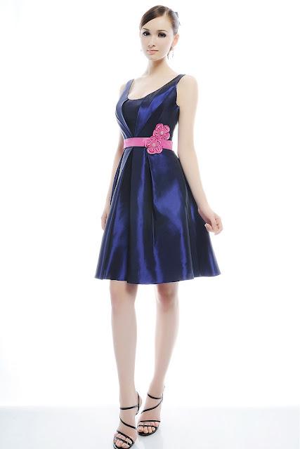 modelos de vestidos celestes