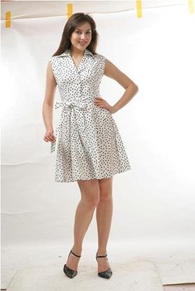 vestidos con bolitas