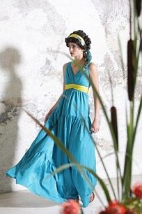 vestidos de fiesta color azul