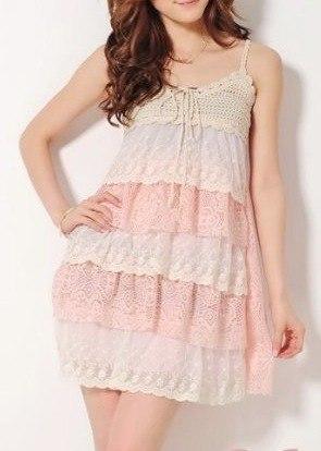 vestidos cortos con ruffles