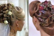 Peinados de novia con adornos de flores