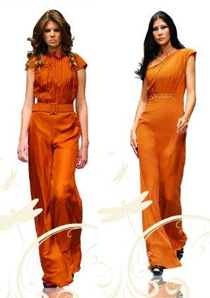 vestidos elegantes de colores brillantes