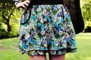 Modelos de faldas cortas floreadas