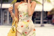 Moda en vestidos floreados casuales 2012