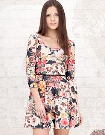 vestidos cortos estampados