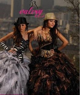 vestidos modernos de quince años