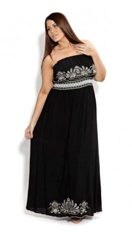 Imagenes de vestidos largos casuales para gorditas