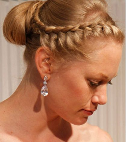 French Roll Hairstyles With A Fringe