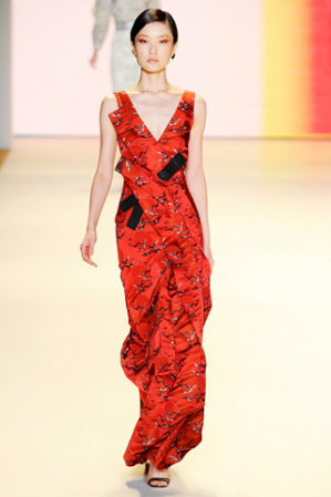 vestidos rojos de moda 2012