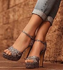 zapatos de taco cuña