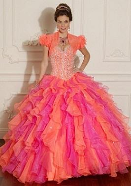 vestidos modernos anaranjados