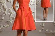 Modelos de vestidos cortos para damas de honor 2012