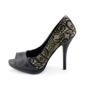 zapatos altos de tela