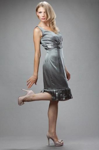 vestidos cortos plateados