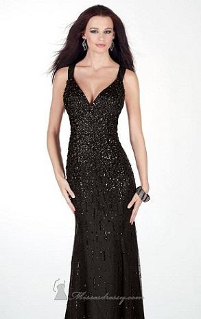 vestidos con brillos a la moda