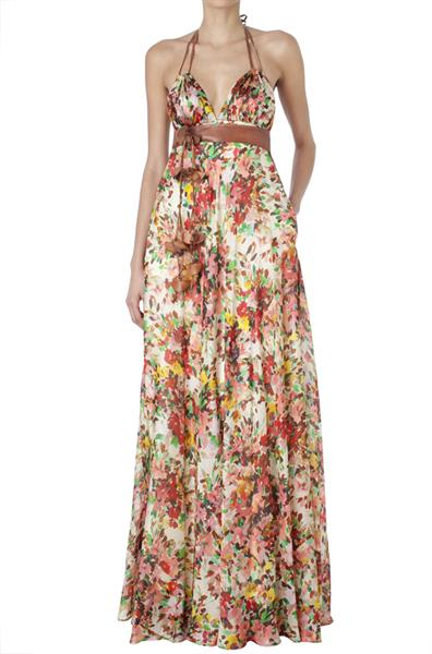 vestidos floreados largos 2012