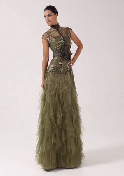vestidos con volantes 2012