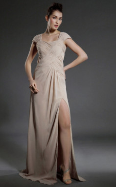 vestidos de fiesta con manga corta