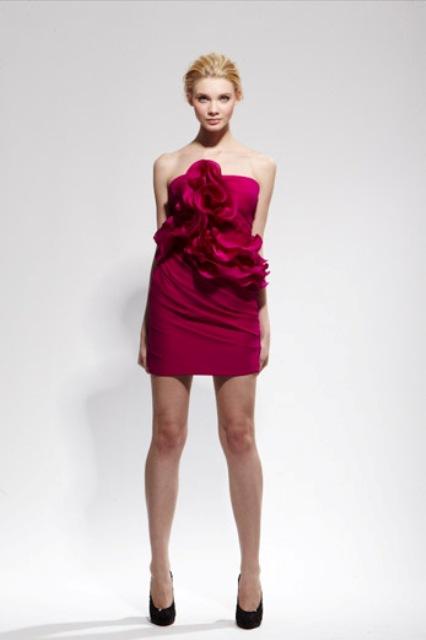 vestidos color vino
