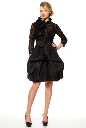 trajes negros elegantes