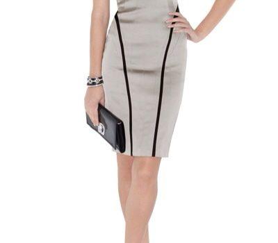 vestidos plateados de moda 2012