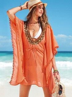 vestidos estampados de playa