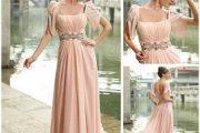 Vestidos largos y vaporosos para madrinas de bodas