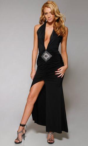 Modelo de vestidos largos de fiesta escotados