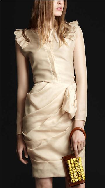 vestidos manga tres cuartos