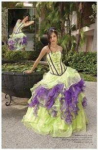 vestidos pomposos de quince años
