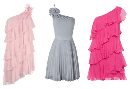 vestidos de colores con volados