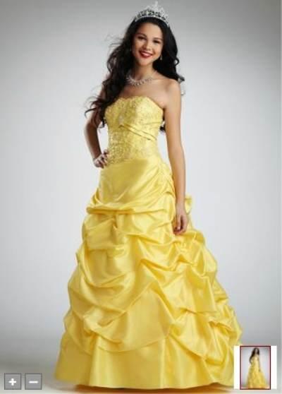 vestidos vaporosos color amarillo