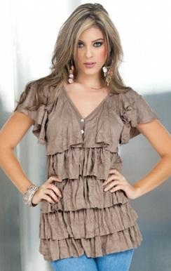 modelos de blusas floreadas