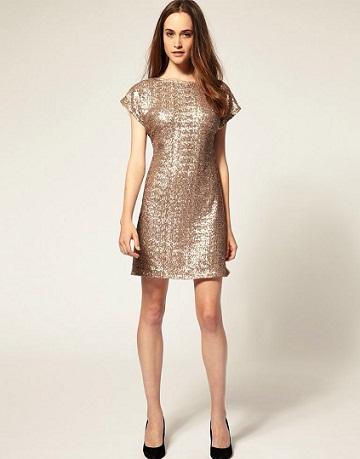 vestidos elegantes con lentejuelas