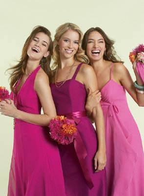 vestidos morados para damas de honor