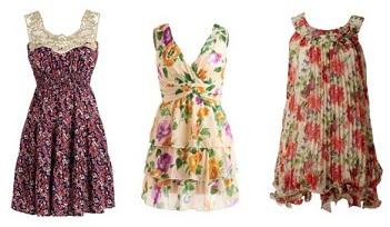 vestidos coloridos de diario