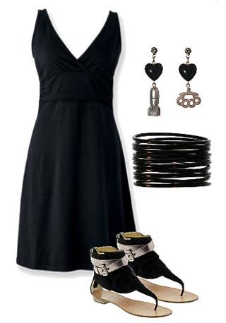vestidos arrugados color negro
