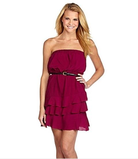 vestidos cortos de colores juveniles