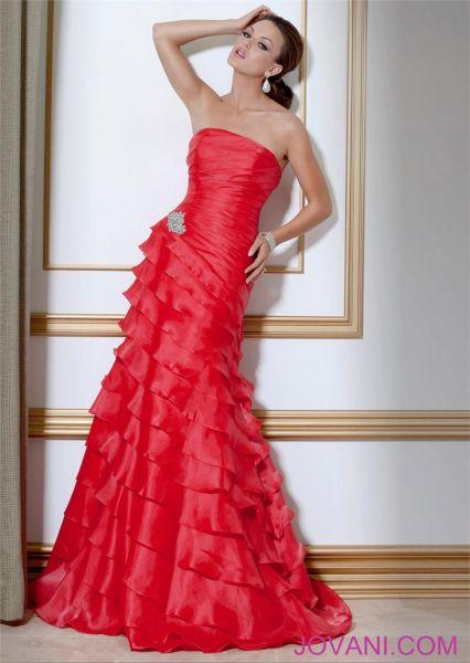 vestidos vaporosos color rojo