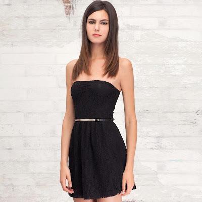 vestidos simples color negro